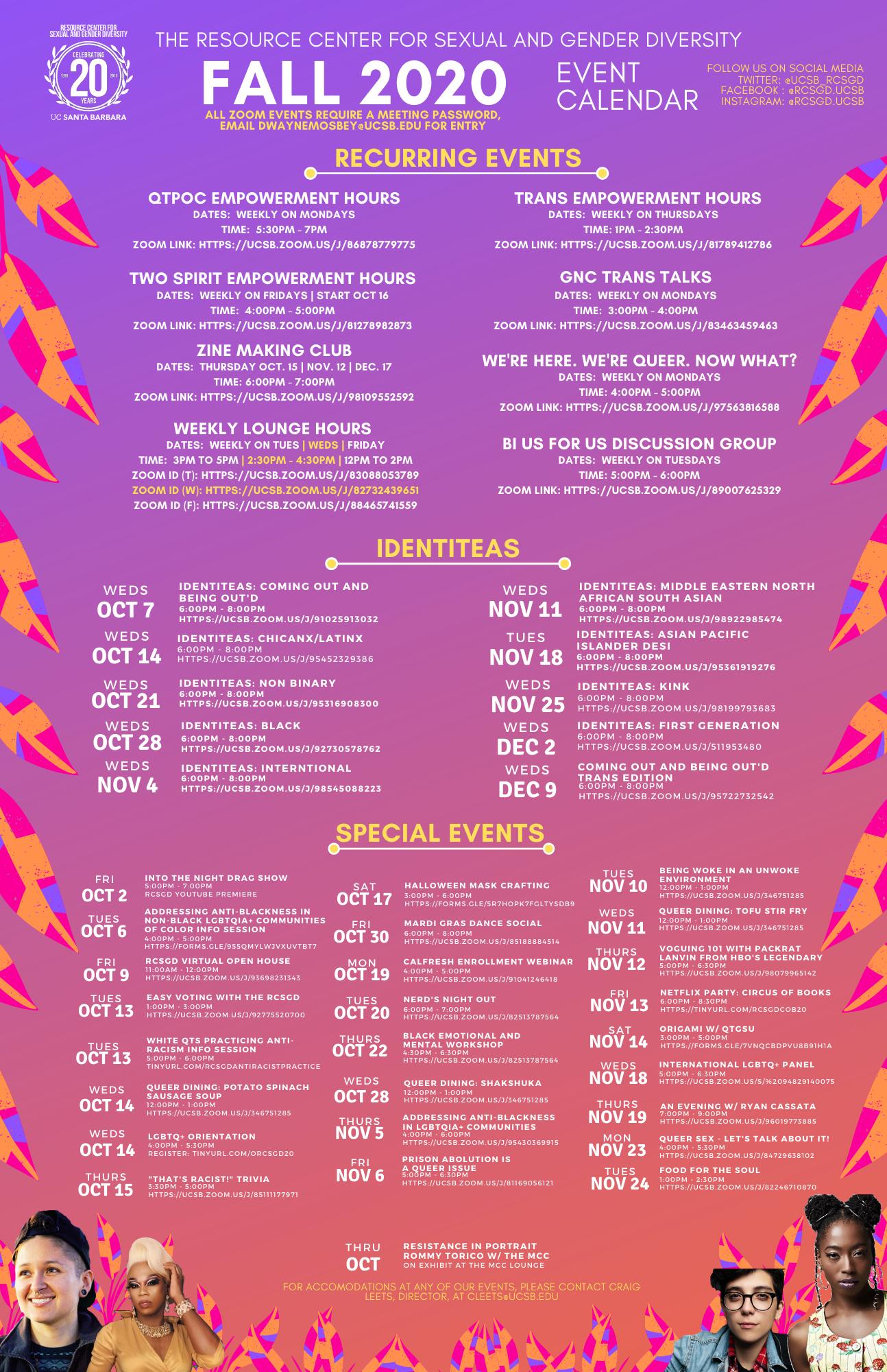 Ucsb Calendar 2021 RCSGD Winter 21 Events Calendar